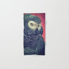 Gray Parrot Hand & Bath Towel