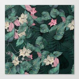 Big leaves pattern Canvas Print