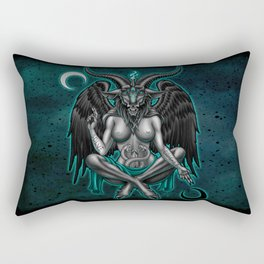 Baphomet (Teal) Rectangular Pillow
