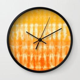 Ombre' Nori Shibori Yellow  Wall Clock