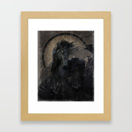 Gothic Friesian Horse Framed Art Print