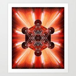 Metatron's Cube Art Print
