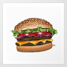 junk food - burger Art Print