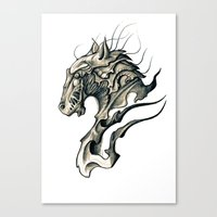 horse Canvas Prints featuring Horse by Nuam