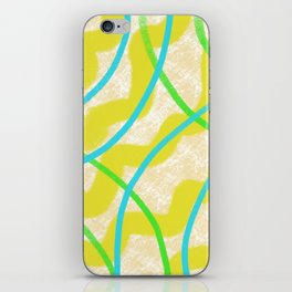 Abstract Waves in Yellow iPhone Skin