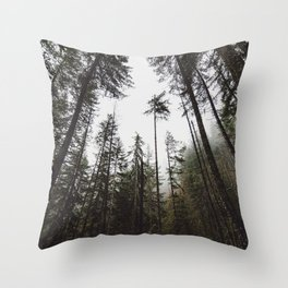 Pacific Northwest Forest Throw Pillow