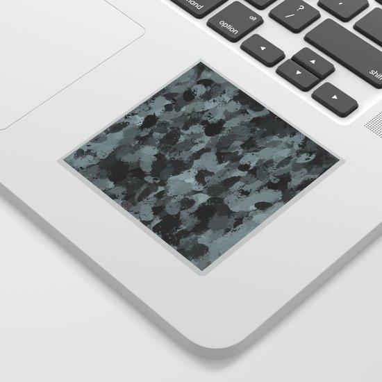 Black and Smokey Blue Pastels 3216 Sticker