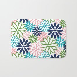 Beatnik Floral in Pastels Bath Mat