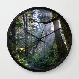 Rain Forest at La Push Wall Clock
