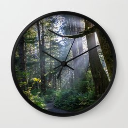 Rain Forest at La Push Wall Clock