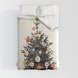 Retro Decorated Christmas Tree Comforters