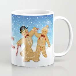 Gingerbread Family Winter Fun Coffee Mug