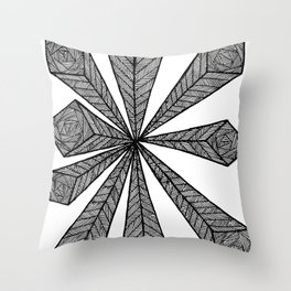 Cubic Explosion Throw Pillow