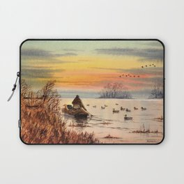 A Great Day For Hunting Ducks Laptop Sleeve