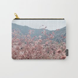 California Pink Flowers Carry-All Pouch