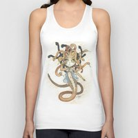 magic the gathering Tank Tops featuring Snake Token - Magic the Gathering - Pharika by Deadlance