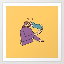 kiss of love Art Print