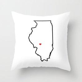 Southern Illinois Home Throw Pillow