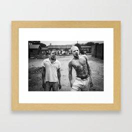 Flour Grinders of Kasese Framed Art Print