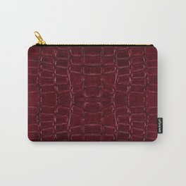Maroon snake leather cloth imitation Carry-All Pouch