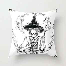 Magic Good Witch coffee lover sweet spider cup Throw Pillow