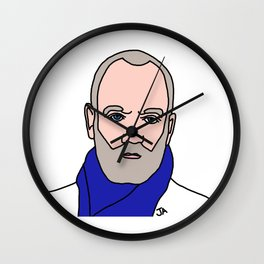 Michael Stipe of REM Illustration - Lead Singer of the 90s Collection  Wall Clock