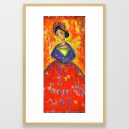 La Frida by Flor Larios Framed Art Print