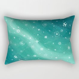 Stylized night sky - blue turqoise Rectangular Pillow