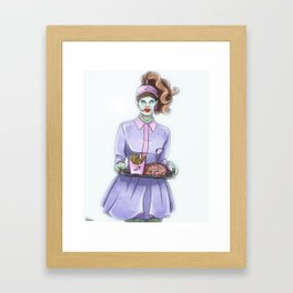 Zombie drive-thru Framed Art Print