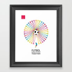 Futbol Brings People Together Framed Art Print