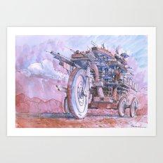 La citta' in moto! Art Print