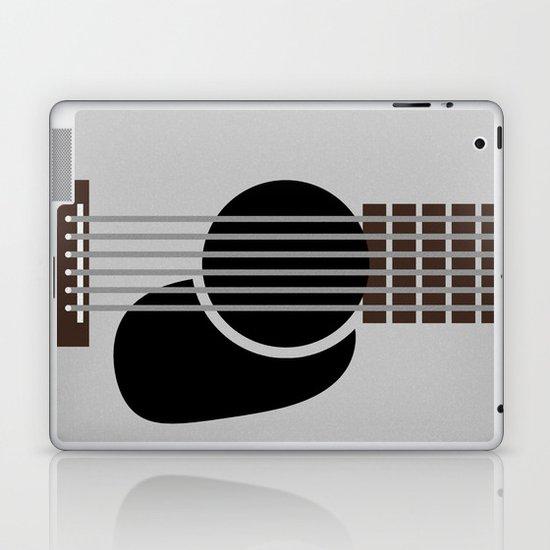 Minimalist Guitar Laptop & iPad Skin