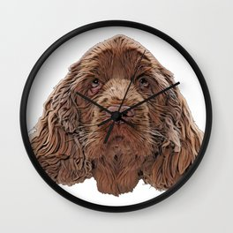 Sussex Spaniel native southern England Clumber Spaniel energetic Wall Clock