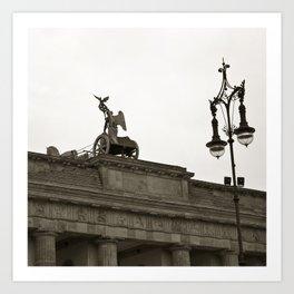 Brandenburg Gate and Quadriga of Berlin Art Print