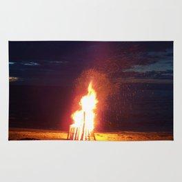 Blazing Beach Bonfire Rug