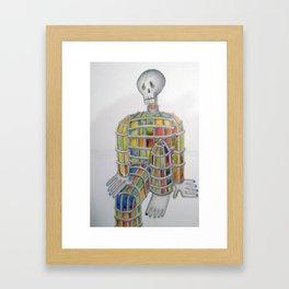 Lonely Skeleton Framed Art Print