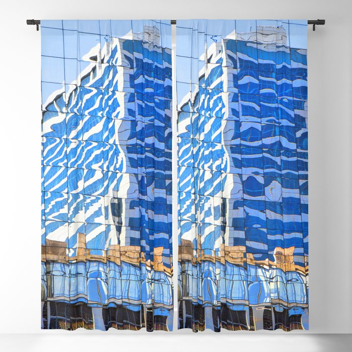 Twisted Buildings Blackout Curtain