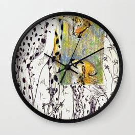 Mother and Child Cheetah Wall Clock