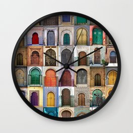 Moorish Doors Montage Wall Clock
