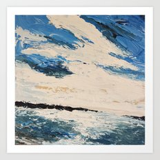 Breakwaters Art Print