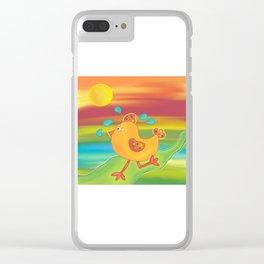 Chicken Run Clear iPhone Case