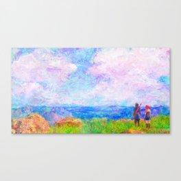Dragon Quest XI Intro Impressionist Painting Canvas Print