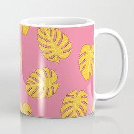 Monstera trendy - pink yellow Coffee Mug