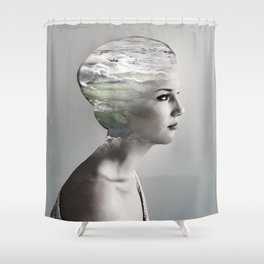 There is an ocean i my soul Shower Curtain
