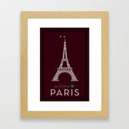Je t'amie Paris Framed Art Print