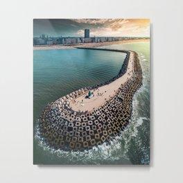 Coast of Belgium Metal Print