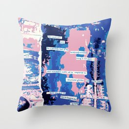 Cafe - Digitally manipulated painting Throw Pillow
