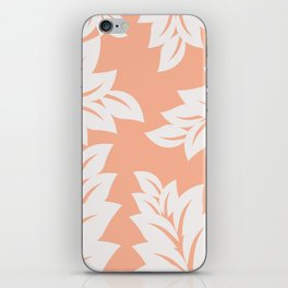 tropical coral leaves iPhone Skin