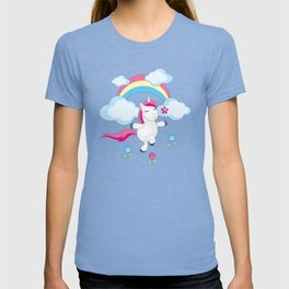 little unicorn and rainbow T-shirt