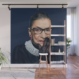 Ruth Bader Ginsburg with Lace Glove Wall Mural